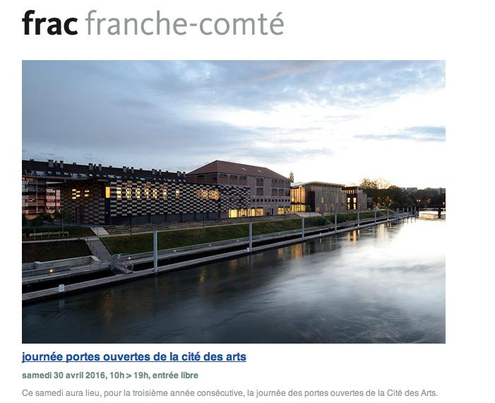 JOURNÉE PORTES OUVERTES DE LA CITÉ DES ARTS