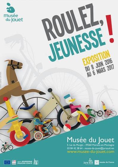 """Musée du Jouet : """"Roulez, jeunesse"""" – Exposition du 8 juin 2016 au 6 mars 2017"""