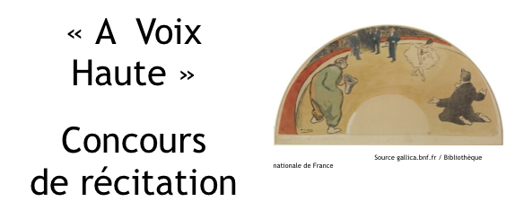 """5e édition du concours de récitation BnF """"A voix haute"""""""