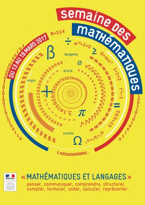 Semaine des mathématiques du 13 au 19 mars 2017
