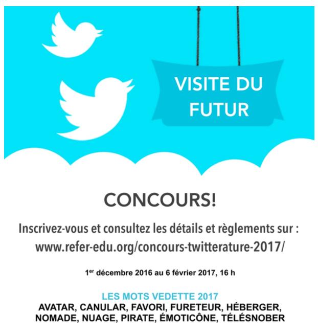 Concours de twittérature jusqu'au 6 février 2017