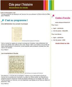 La nouvelle lettre d'information de Clés pour l'histoire.