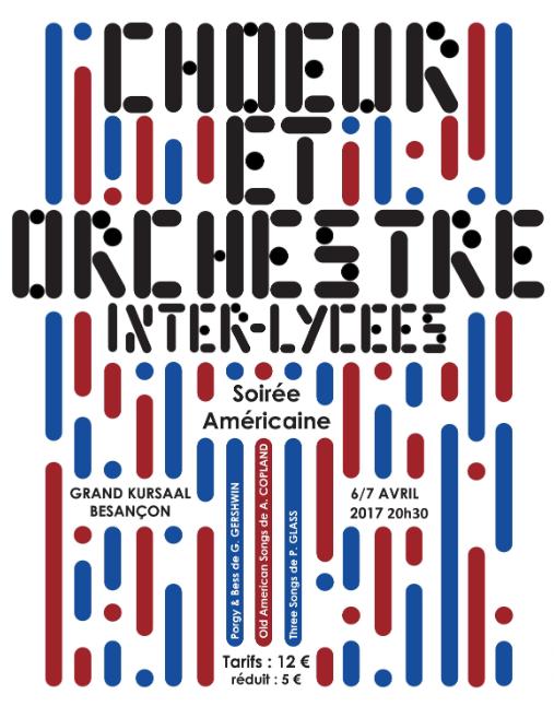 Concerts du Choeur et Orchestre Inter-Lycées de Besançon – 6 et 7 avril 2017