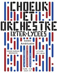 Concerts du Choeur et Orchestre Inter-Lycées de Besançon - 6 et 7 avril 2017 à 20h30 au Grand Kursaal de Besançon