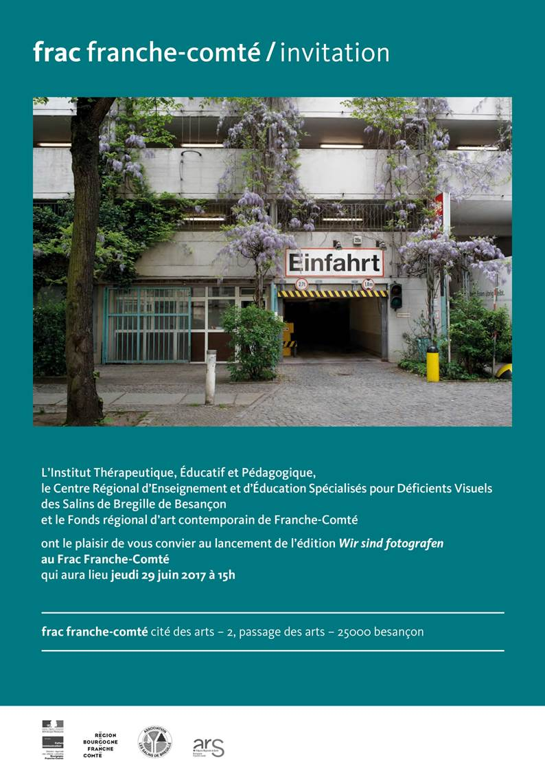 """Invitation au lancement de l'édition """"Wir sind fotografen"""" au FRAC Franche-Comté"""
