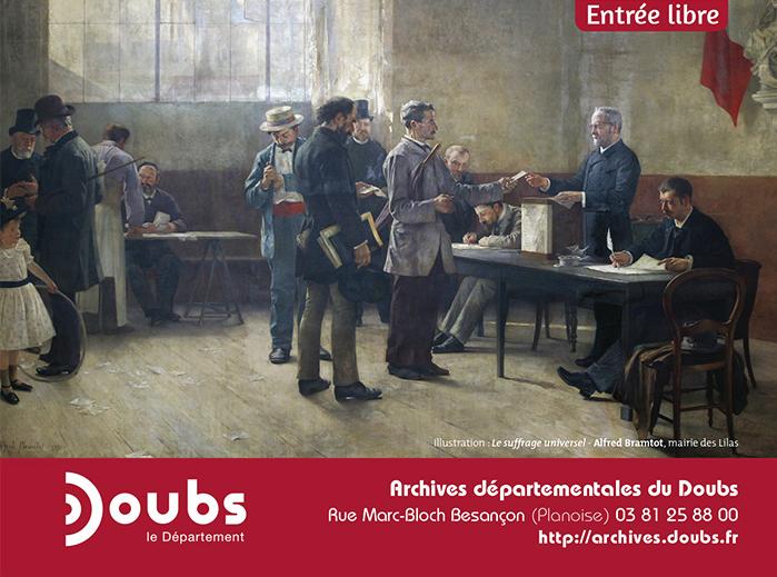 Prolongation de l'exposition sur les élections aux Archives départementales du Doubs