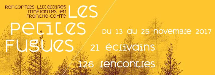 Festival littéraire «Les Petites Fugues» – du 13 au 25 novembre 2017