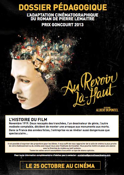 Au Revoir Là-Haut – Dossier pédagogique du film