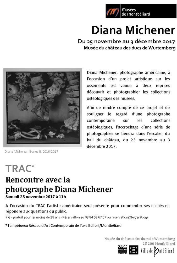 Diana Michener – Musée du Château des ducs de Wurtemberg – du 25 novembre au 3 décembre 2017