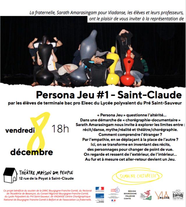 Persona Jeu #1 – Saint Claude – Vendredi 8 décembre