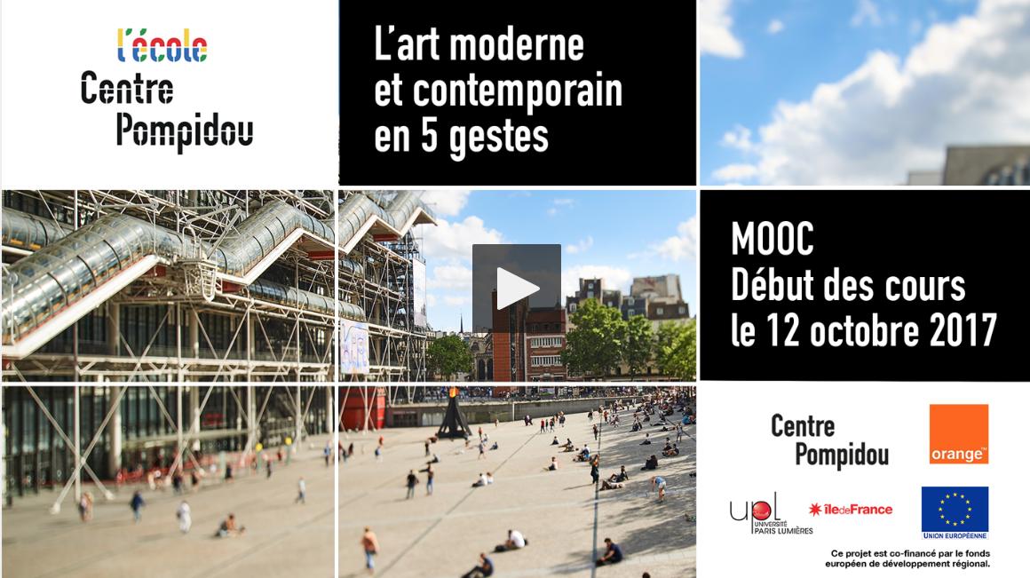 MOOC L'art moderne et contemporain en 5 gestes – Centre Pompidou