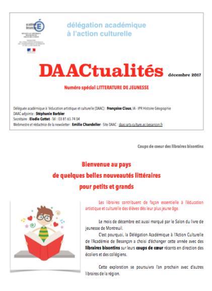 DAACtualités – Découvrez le numéro de décembre consacré à la littérature de jeunesse !