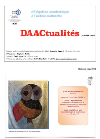 DAACtualités – Découvrez le numéro de janvier 2018 !