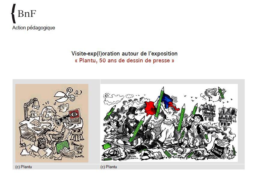 """BnF – Action pédagogique autour de l'exposition """"Plantu, 50 ans de dessin de presse"""""""