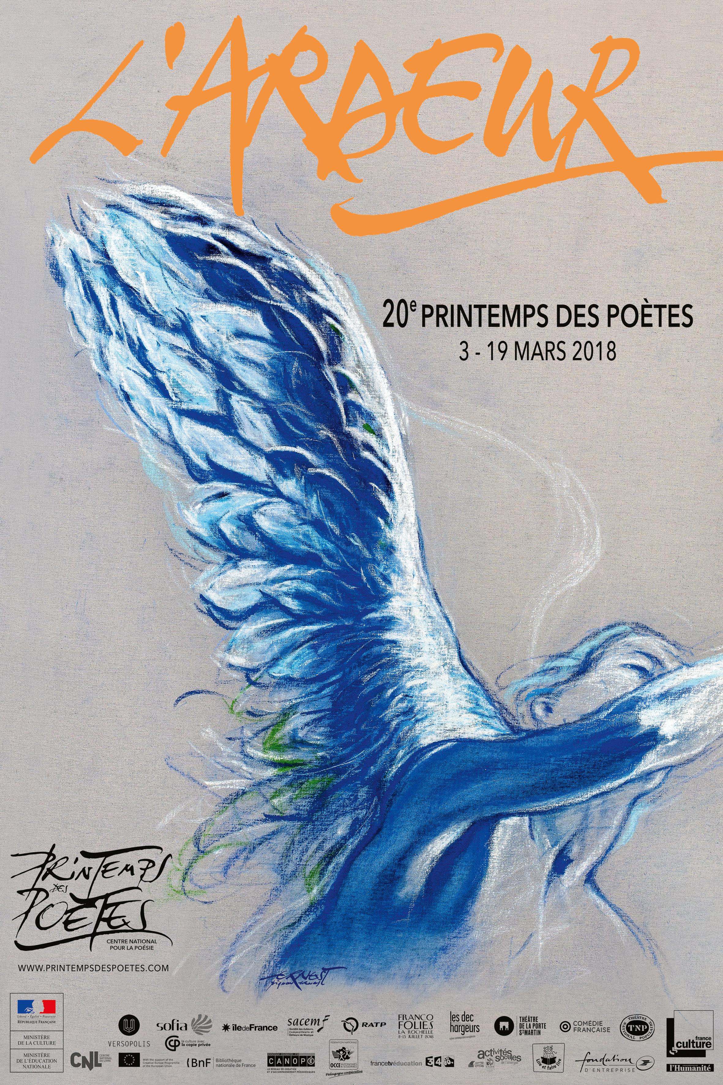 L'Ardeur – Printemps des poètes – Du 3 au 19 mars 2018