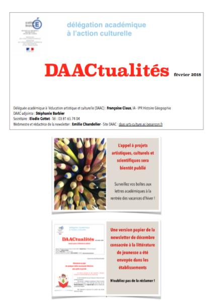 DAACtualités – Découvrez le numéro de février 2018 !