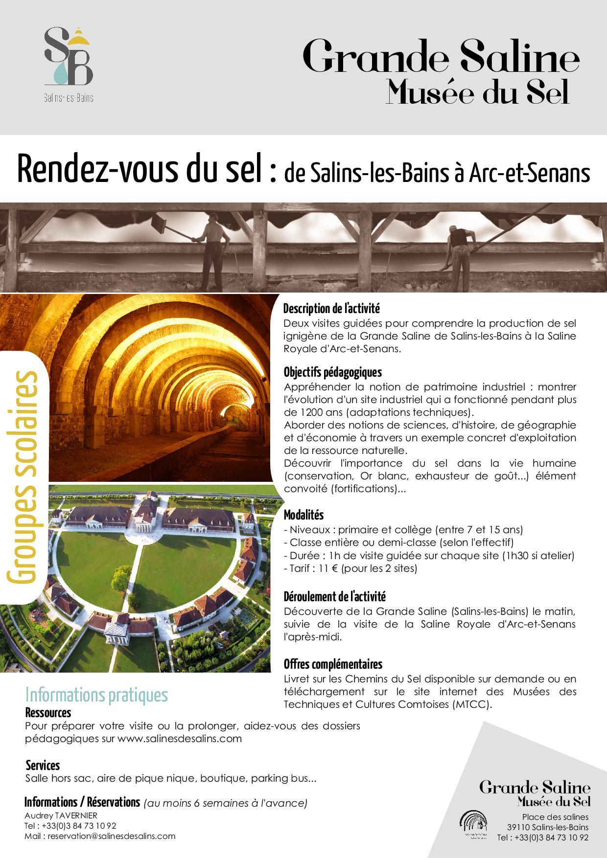 Rendez-vous du sel : de Salins-les-Bains à Arc-et-Senans