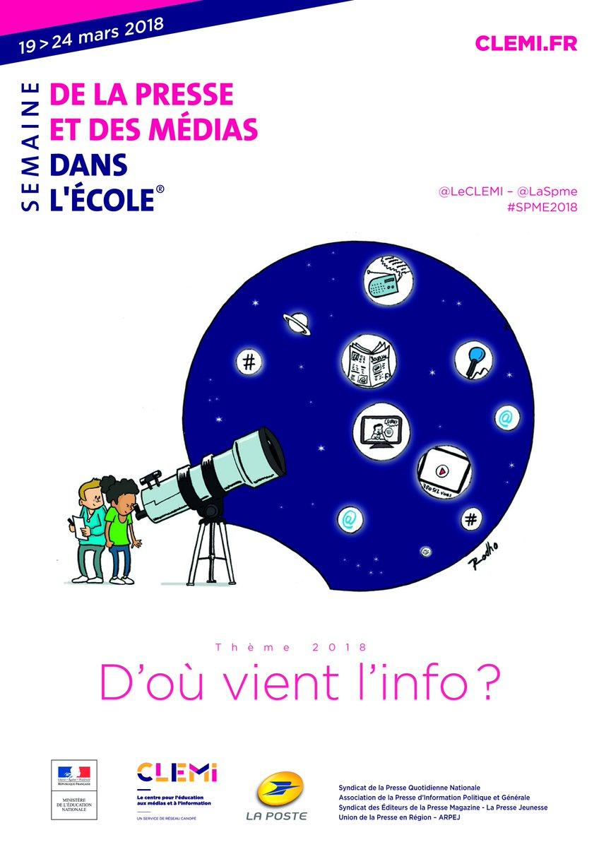 Semaine de la presse et des médias dans l'Ecole du 19 au 24 mars 2018