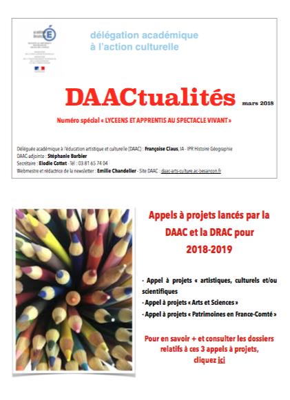 DAACtualités – Découvrez le numéro de mars 2018 !