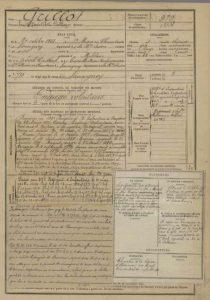 Un document issu des Archives de Haute-Saône