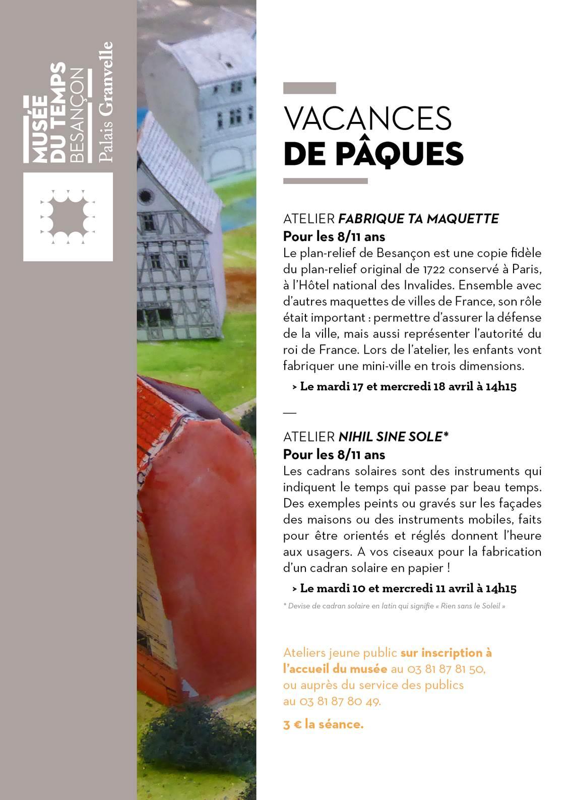 Vacances au Musée du Temps de Besançon