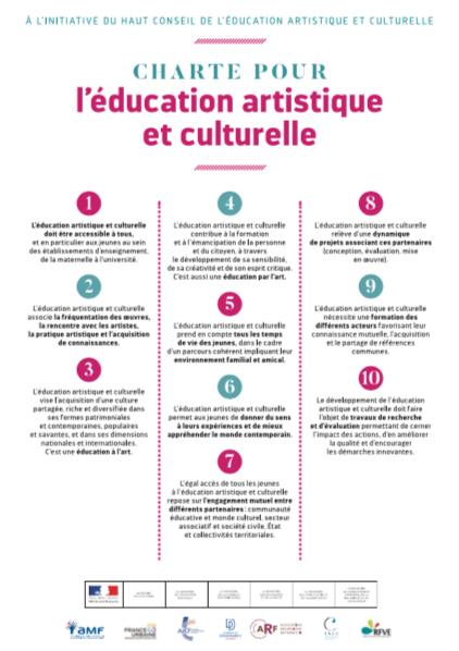 Charte pour l'éducation artistique et culturelle 2018