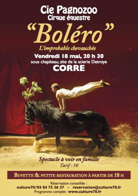 Boléro, l'improbable chevauchée – 18 mai 2018 – Corre