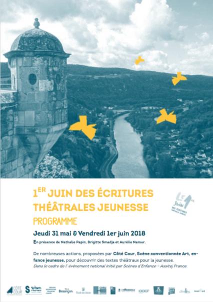 1er juin des écritures théâtrales jeunesse à Besançon