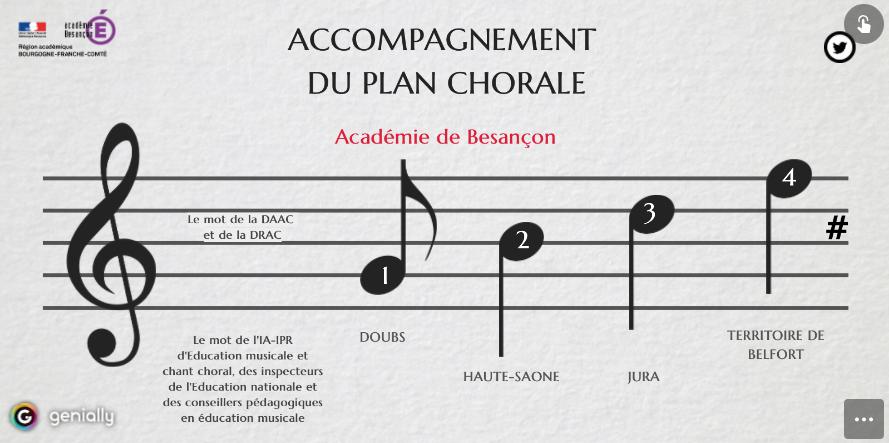 Outil numérique d'accompagnement du plan chorale dans l'académie de Besançon
