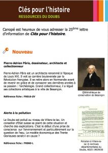 La 25 ème lettre d'information de Clés pour l'Histoire