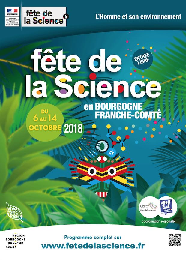 Fête de la Science en Bourgogne Franche-Comté du 6 au 14 octobre 2018