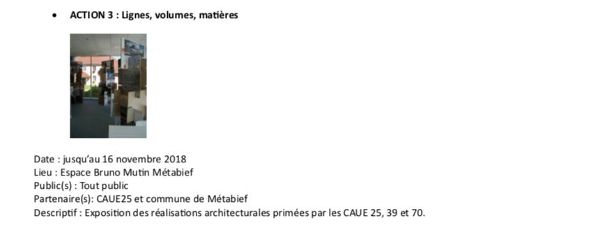 Journées nationales de l'architecture dans l'académie de Besançon – #JNArchi – du 19 au 21 octobre 2018