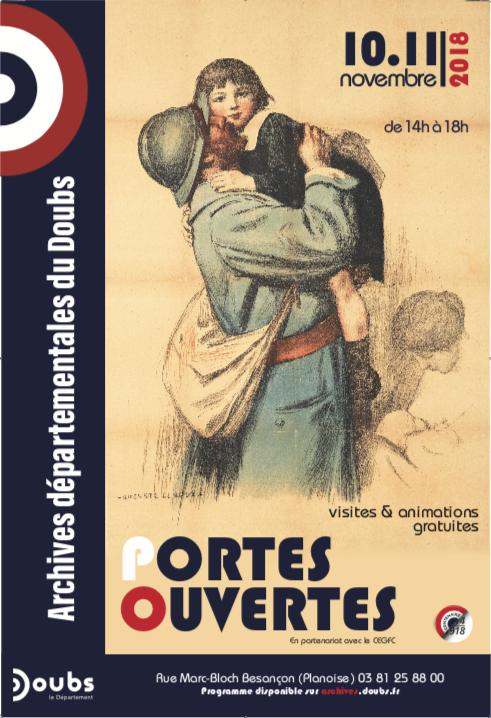 Archives départementales du Doubs – Après-midis portes ouvertes – 10 et 11 novembre 2018