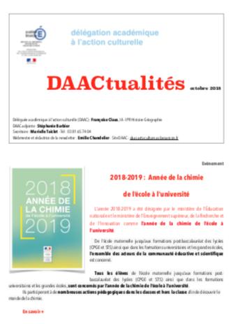 DAACtualités – Découvrez le numéro d'octobre !