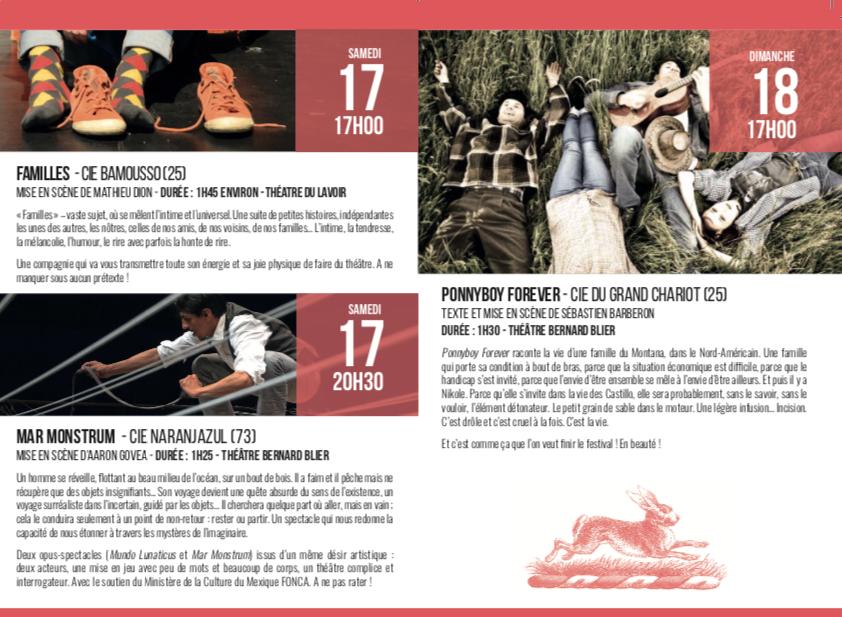 Festival Paroles en marge – Pontarlier – du 14 au 18 novembre 2018