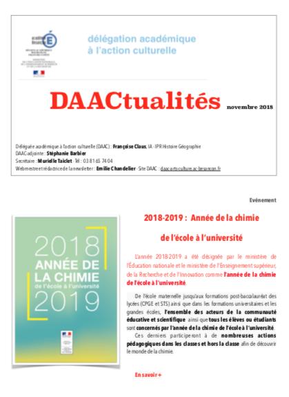 DAACtualités – Découvrez le numéro de novembre !