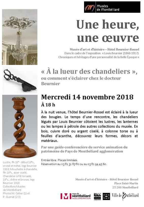 Une heure, une oeuvre – Musées de Montbéliard – mercredi 14 novembre 2018 à 18h
