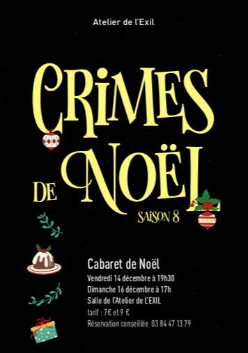 Atelier de l'Exil – Les Crimes de Noël approchent, ne les manquez pas !