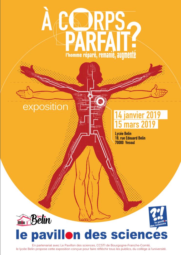 """Exposition """"A corps parfait ?"""" – Lycée Belin – Vesoul – du 14 janvier au 15 mars 2019"""
