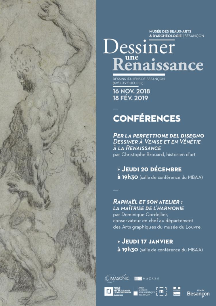 """MBAA – Cycle de conférences autour de l'exposition """"Dessiner une Renaissance"""""""