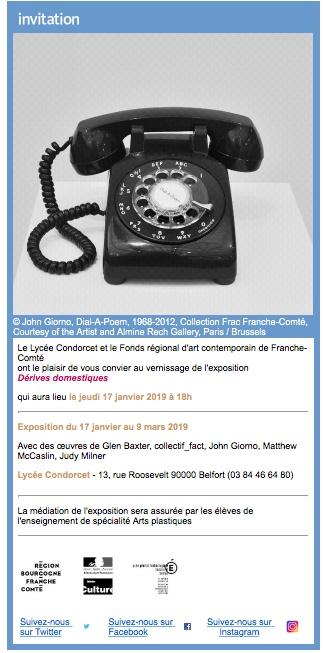 Dérives domestiques, exposition Frac au Lycée Condorcet de Belfort du 17 janvier au 09 mars 2019