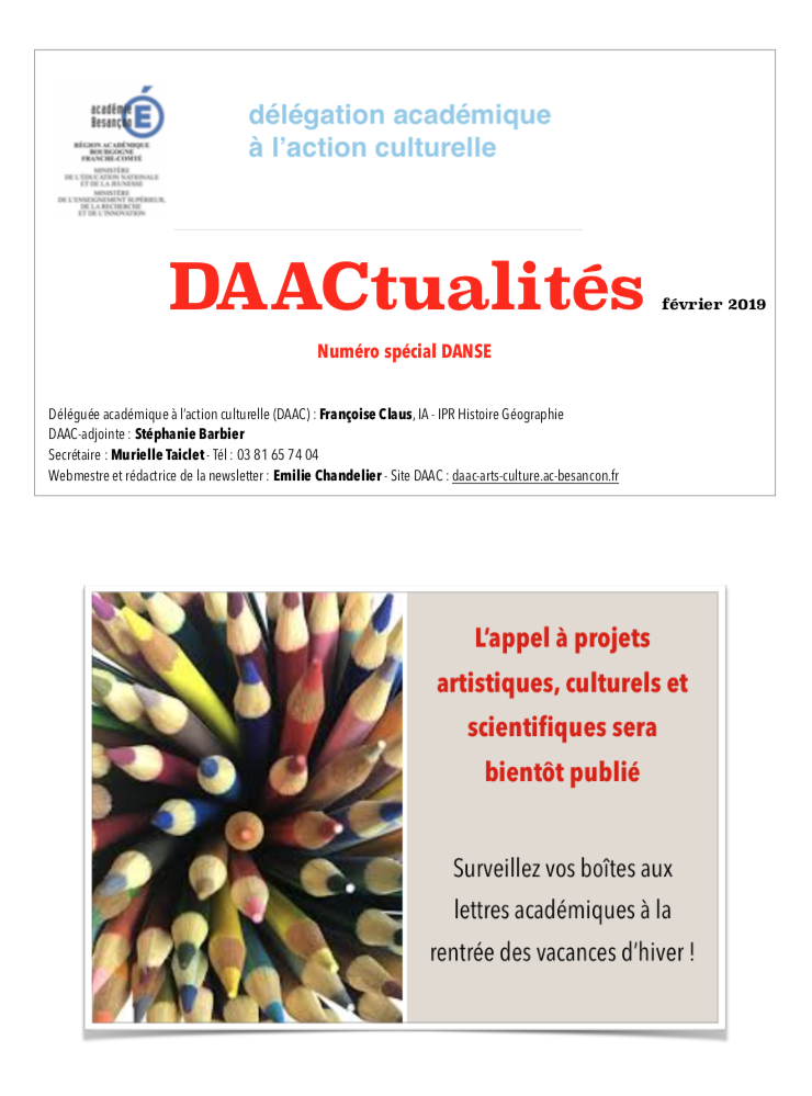 DAACtualités – Découvrez le numéro de février 2019