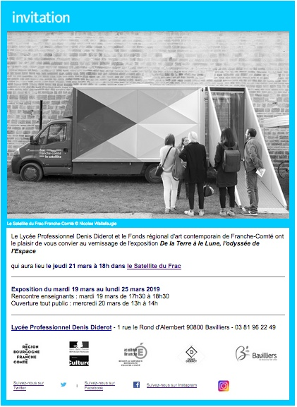 Frac Franche-Comté / lycée professionnel Diderot, de Bavilliers / invitation vernissage // jeudi 21 mars