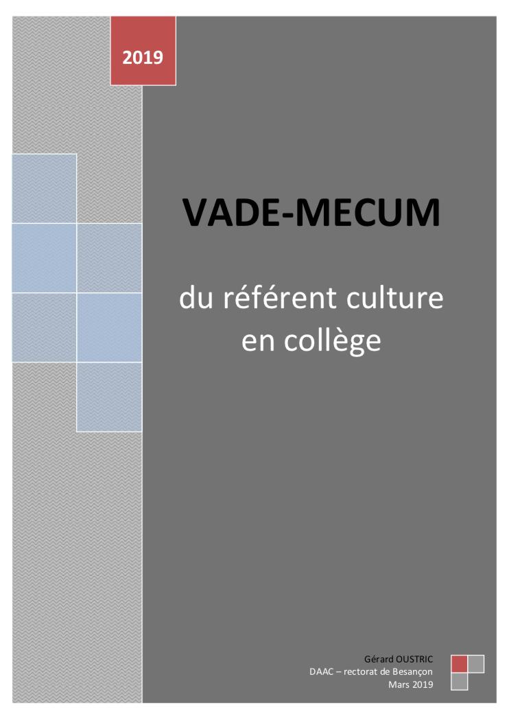 Vade-mecum du référent culture en collège