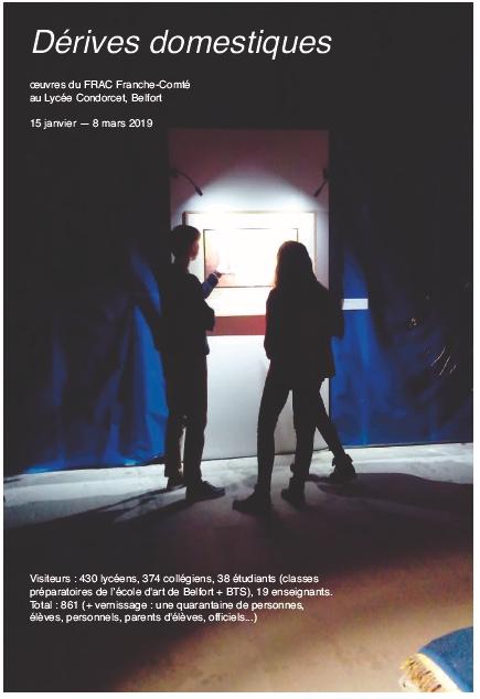 """Retour sur l'exposition du  Frac """"dérives domestiques"""" au lycée Condorcet de Belfort."""