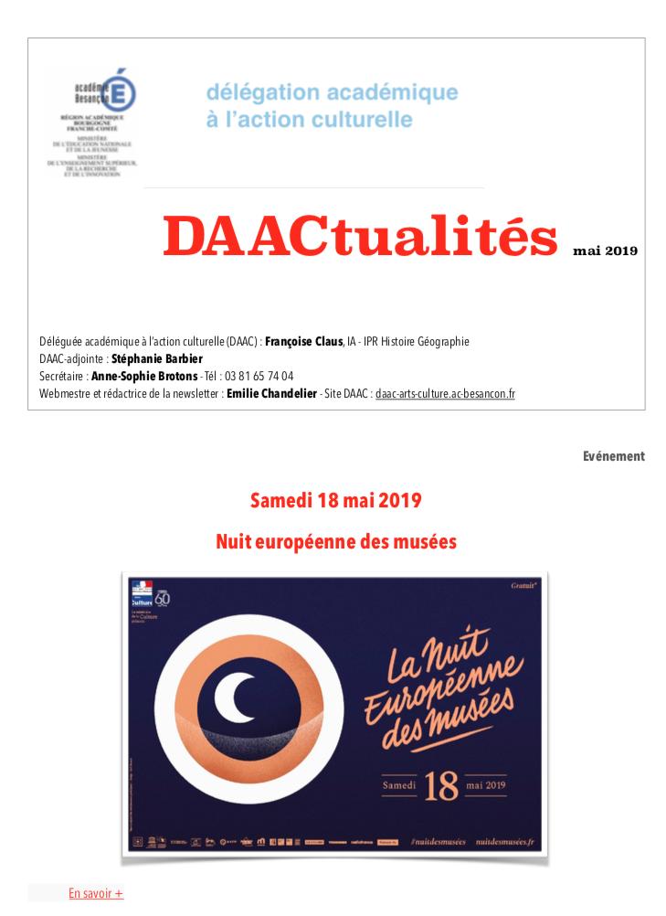 DAACtualités – Découvrez le numéro du mois de mai 2019 !