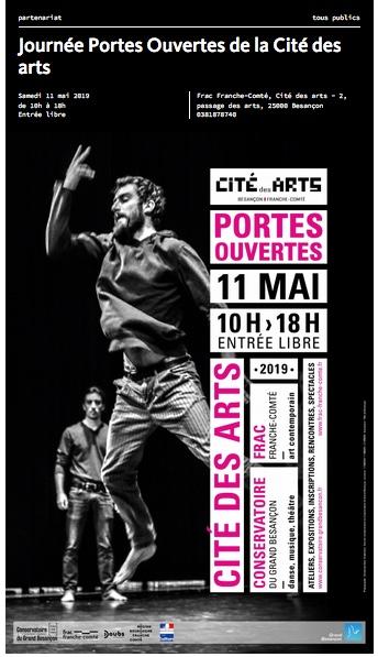 FRAC Franche-Comté / samedi 11 mai 2019 : Journées Portes Ouvertes de la Cité des arts