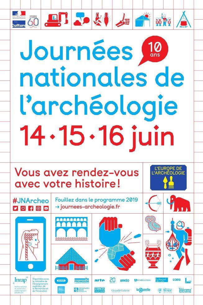 Journées nationales de l'archéologie – 14, 15 et 16 juin 2019