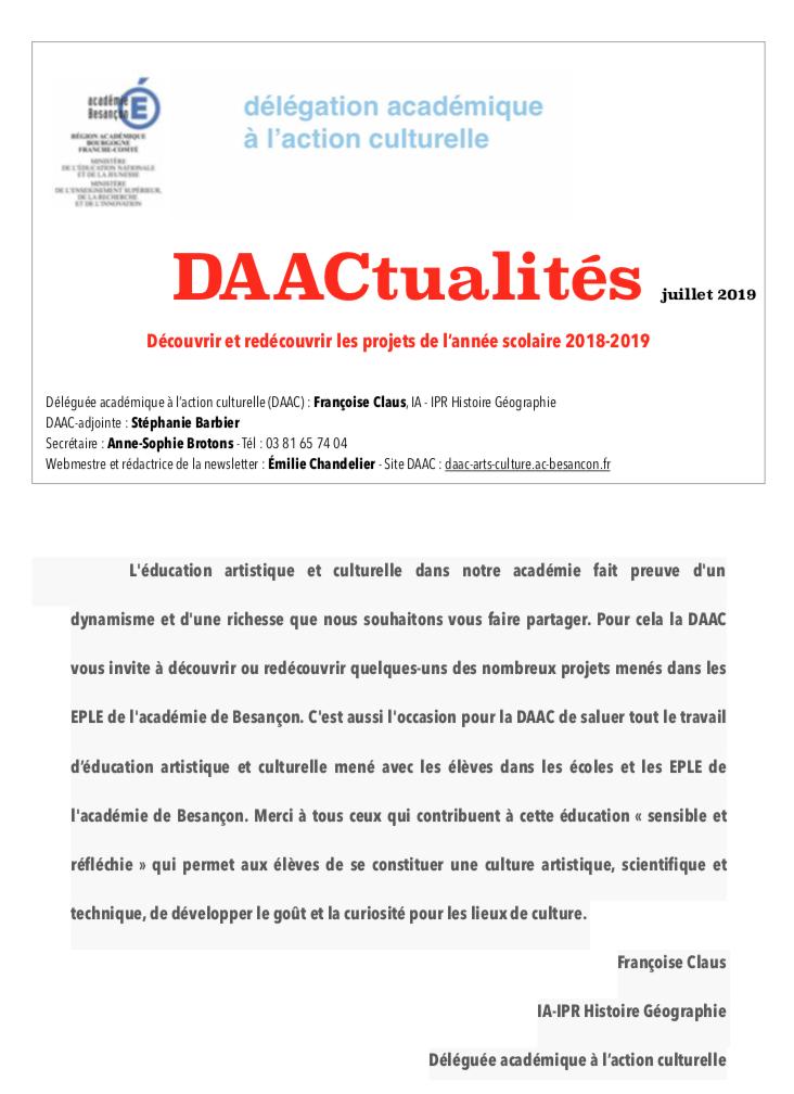 DAACtualités – Découvrez le numéro de juillet !
