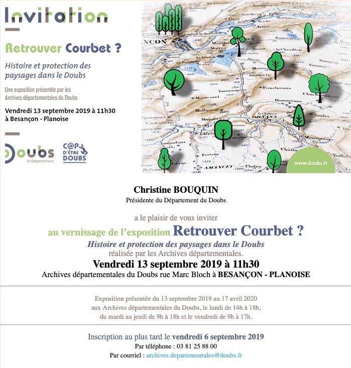 """""""Retrouver Courbet ?"""" – Vernissage de l'exposition vendredi 13 septembre 2019 – Archives du Doubs"""